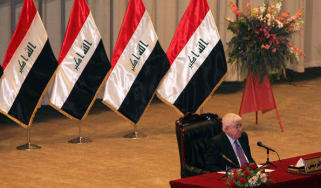 Fouad Massoum during the first session of the Iraqi Parliament