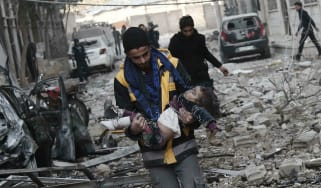 17 civilians were killed by Syrian airstrikes on Sunday