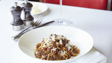 Spaghetti bolognese recipe by chef Tristan Welch from Parker's Tavern in Cambridge