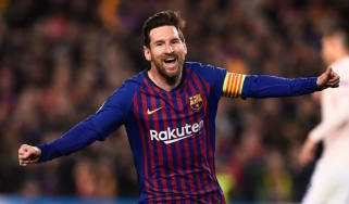 Lionel Messi scored twice as Barcelona beat Manchester United in the Champions League