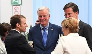 EU chief negotiator Michel Barnier (centre)