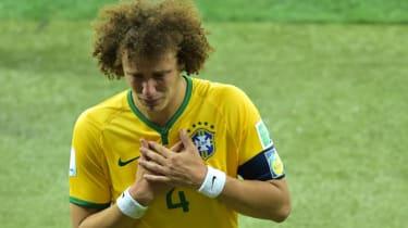 David Luiz after losing the semi-final