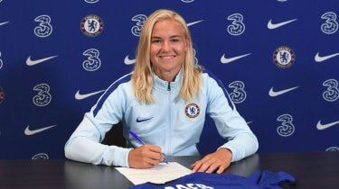 Chelsea Women have signed Danish star Pernille Harder on a three-year deal