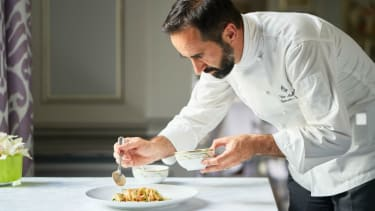 Spring carbonara recipe by chef Vito Mollica from Il Palagio at the Four Seasons Hotel Florence