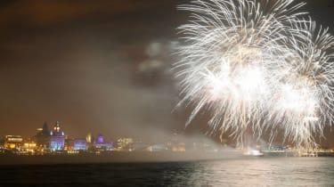 Liverpool fireworks 2008 European Capital of Culture