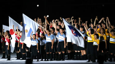 Children represented the participating countries