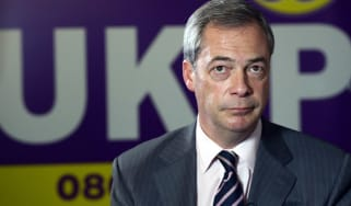 United Kingdom Independence Party (UKIP) leader Nigel Farage