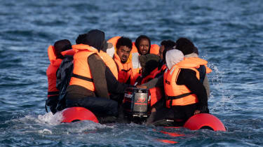 Migrants attempt to cross the English Channel