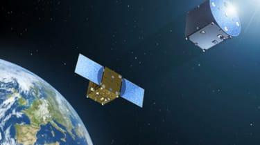 Satellite in orbit around earth. Image: ESA