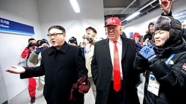 Kim Jong Un Donald Trump impersonators PyeongChang 2018