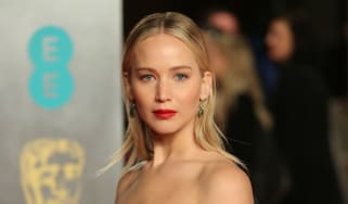 Jennifer Lawrence was among those wearing black in support of the #MeToo movement