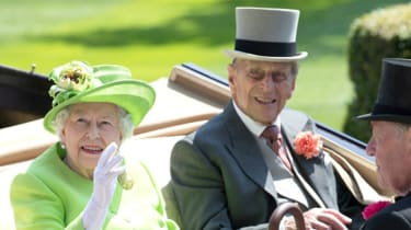 Queen and Philip at Ascot