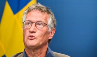 Swedish state epidemiologist Anders Tegnell speaks during a news conference
