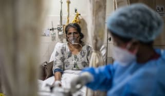 A Covid patient in New Delhi, India