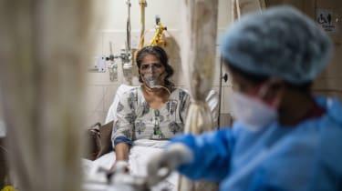 A Covid patient in New Delhi, India