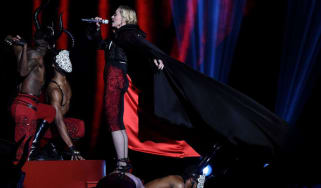 Madonna on stage during the BRIT Awards