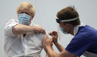 Boris Johnson receives his second dose of the Oxford-AstraZeneca vaccine