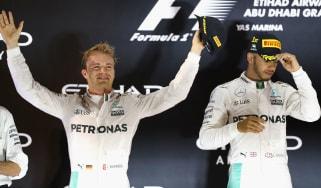 F1 Lewis Hamilton and Nico Roseberg