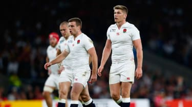 Owen Farrell and George Ford of England