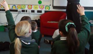 Pupils in a UK school