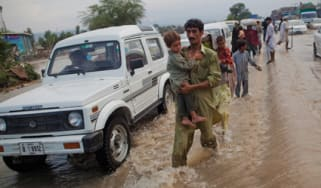 Refugees after floods in Pakistan