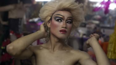 A ladyboy at a cabaret in Thailand
