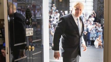 Boris Johnson arrives in Downing Street