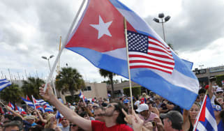 US Cuba flags
