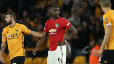Manchester United midfielder Paul Pogba missed a penalty in the 1-1 draw against Wolves
