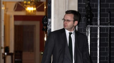 Andy Coulson leaves 10 Downing Street following his resignation as Director of Communications for David Cameron