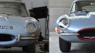 A barn-find 1964 Jaguar E-type Series 1 3.8 FHC was restored by E-Type UK
