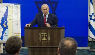 RAMAT GAN, ISRAEL - SEPTEMBER 10:Israeli Prime Minster Benjamin Netanyahu speaks during his announcement on September 10, 2019 in Ramat Gan, Israel. Netanyahu pledges to annex Jordan Valley i
