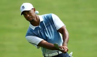 Tiger Woods practises at Valhalla ahead of the 2014 US PGA