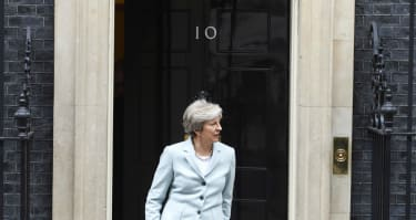Many say the resemblance between May and the figure is uncanny.