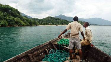 The boat trip to the Mahale National Park, Tanzania