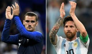 World Cup round of 16 France vs. Argentina Antoine Griezmann Lionel Messi