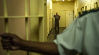 Wardens from the Kgosi Mampuru II Prison where Oscar Pistorius spent part of his sentence show the different wards during a media tour on December 1, 2015 in Pretoria.South Africa's Supreme C