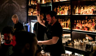 Patrick Pistolesi at Drink Kong bar in Rome, Italy