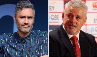 Taika Waititi and Warren Gatland