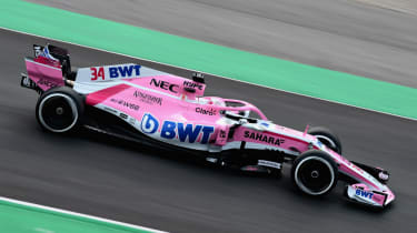 Force India VJM11 car launch 2018 testing Barcelona