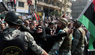 Egypt women protesters