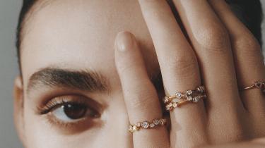 Jessie Thomas diamond cluster rings