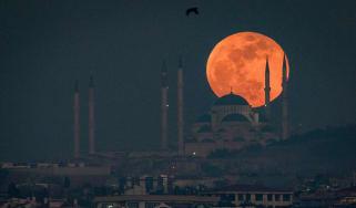 Blood moon, eclipse, moon, turkey