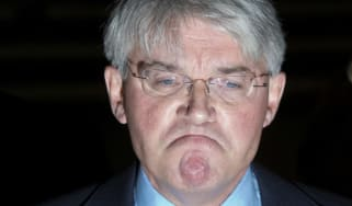Former cabinet minister and Conservative MP Andrew Mitchell talks to the media after the court ruling.