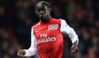 LONDON, ENGLAND - APRIL 16:Bacary Sagna of Arsenal in action during the Barclays Premier League match between Arsenal and Wigan Athletic at Emirates Stadium on April 16, 2012 in London, Engla