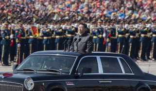 Xi Jinping during a 2015 military parade in Tiananmen Square