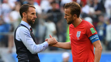 England head coach Gareth Southgate and captain Harry Kane of Tottenham