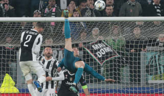 Cristiano Ronaldo goal overhead kick Real Madrid Juventus Champions League