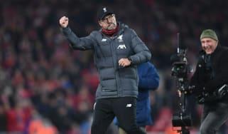 Liverpool boss Jurgen Klopp celebrates victory over Man City