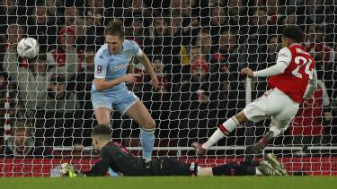 Reiss Nelson scored Arsenal's winning goal against Leeds